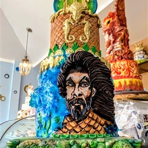 Aquaman 3 Tier Birthday Cake