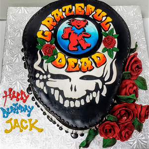 Amazing Fondant Grateful Dead Dancing Bear Skull Birthday Cake