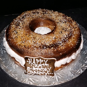 Bagel 35th Birthday Cake