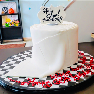 Holy Crap! You're old!!, Toilet Paper Birthday Cake