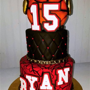 Hip hop Basketball Fondant 15th Birthday Cake