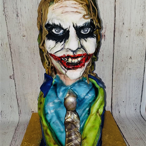 Lifelike 3D Fondant Joker Birthday Cake