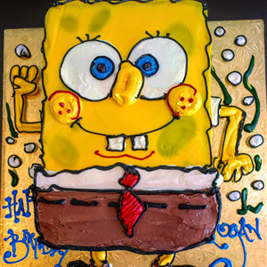 2D Spongebob.Square Pants Birthday Cake