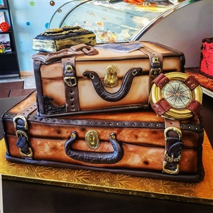 Double Luggage Birthday Cake