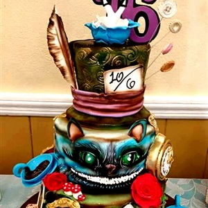 Sweet 16 Alice in Wonderland Cake