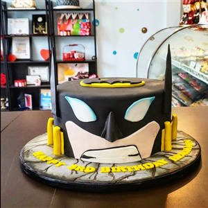 Batman's Head Birthday Cake