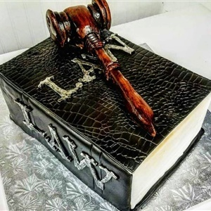 Law Book Graduation Cake