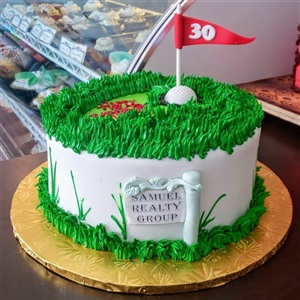 30th Birthday Golf Buttercream & Fondant Cake