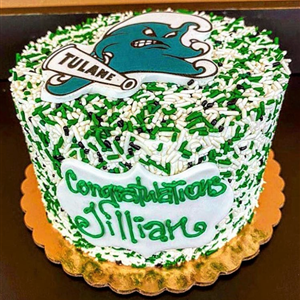 Tulane College Sprinkle Commitment Cake