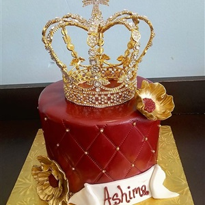 Crown Fondant Birthday Cake