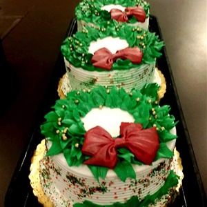 Christmas Buttercream Reef Cakes